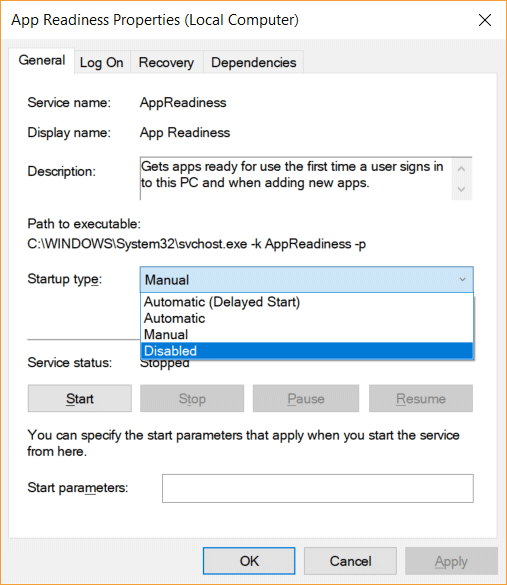 You can also disable the service via the standard services.msc snap-in interface if you prefer that.